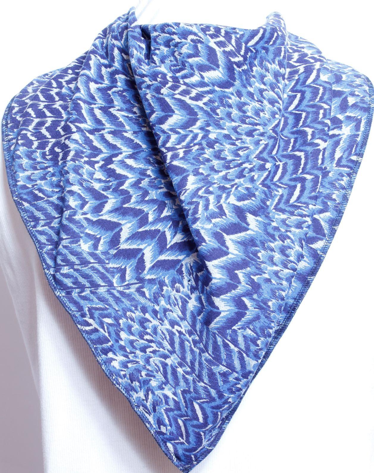 Peacock Tail Bandana Bib - Size 4