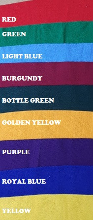Children's School Polo T-Shirt Style Bibs - Size Junior 1 - Available in 9 Colours
