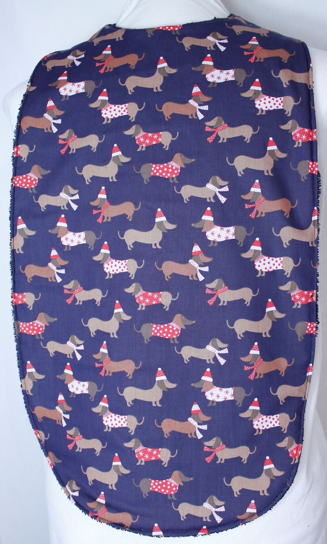 Christmas Dachshund Long Length Clothing Protector
