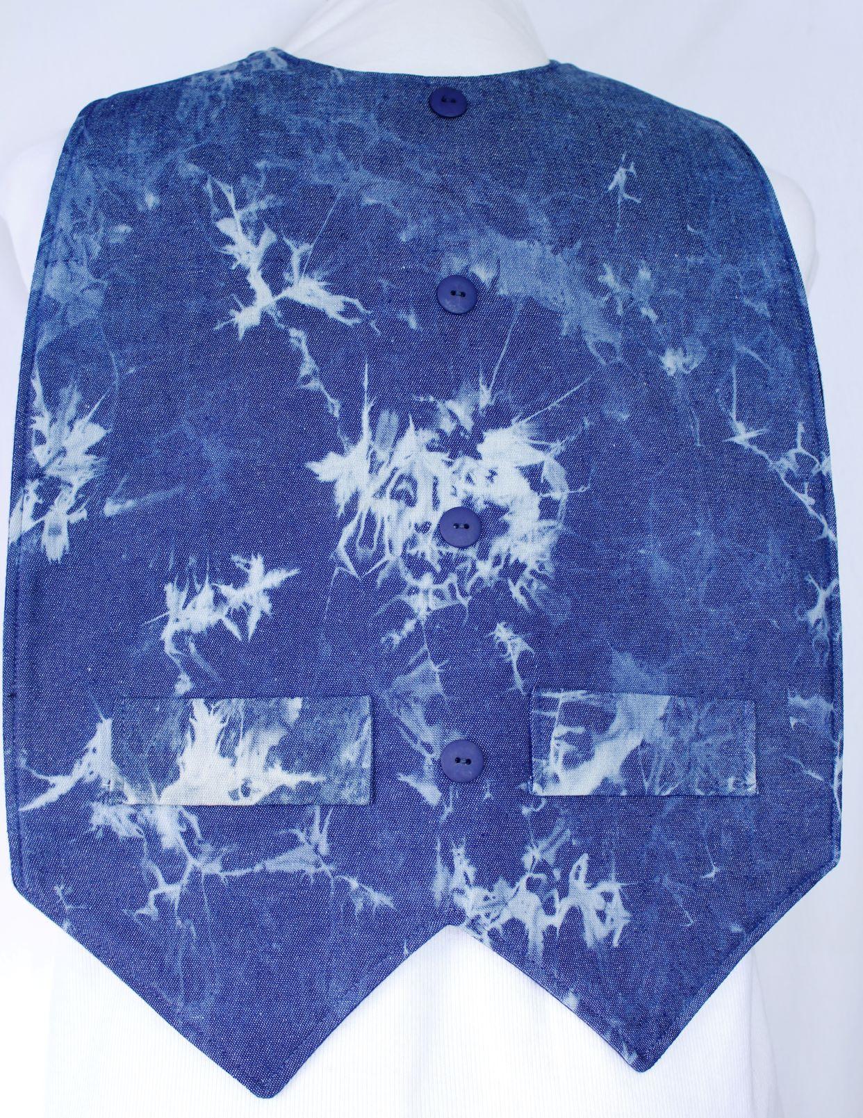 Denim Tye Dye Waistcoat Style - Extra Protect Long Length Clothing Protector