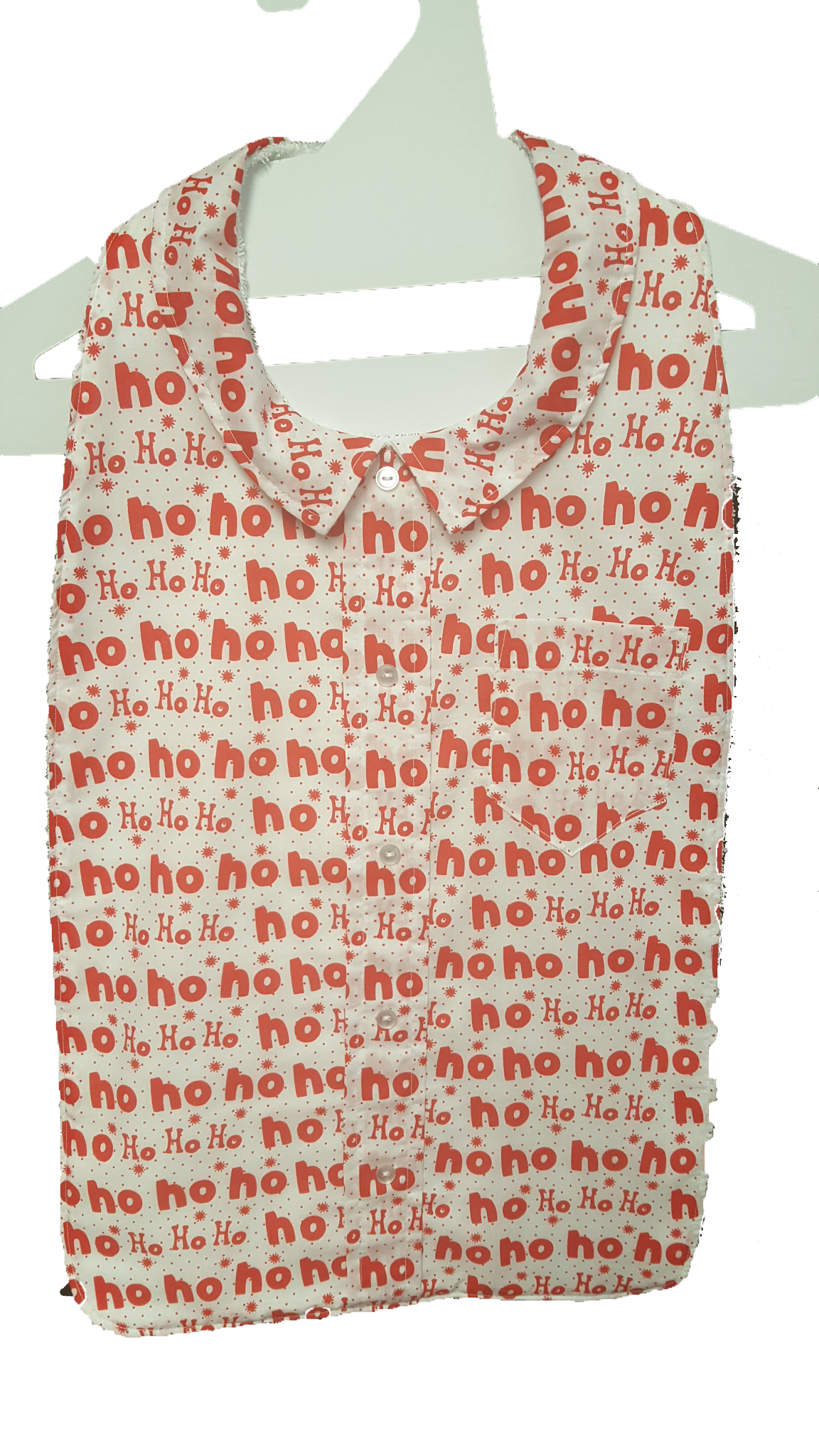 Ho Ho Ho Shirt Long Length Clothing Protector