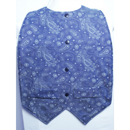 Denim Paisley Waistcoat Style - Extra Protect Long Length Clothing Protector