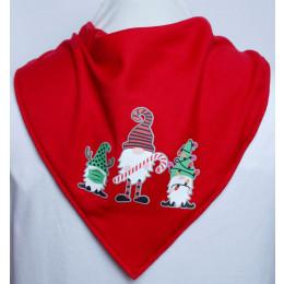 Christmas Gonks Bandana - Size 1 & 2