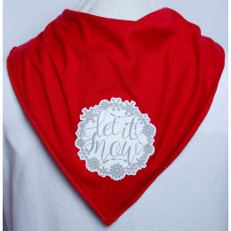 Let it Snow Bandana - Size 3 & 4