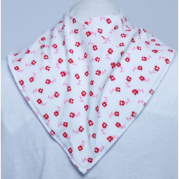 **LIMITED EDITION** Red Daisy Bandana Bib - Size 4