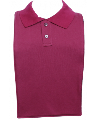 Burgundy Polo T-Shirt Style Clothing Protector